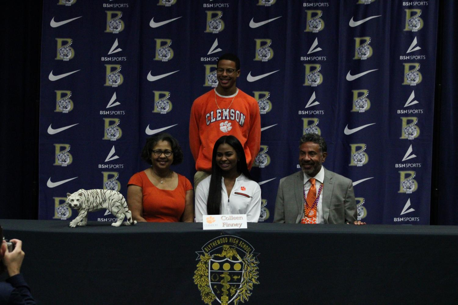 Colleen+Finney+signs+to+play+volleyball+at+Clemson+University.+