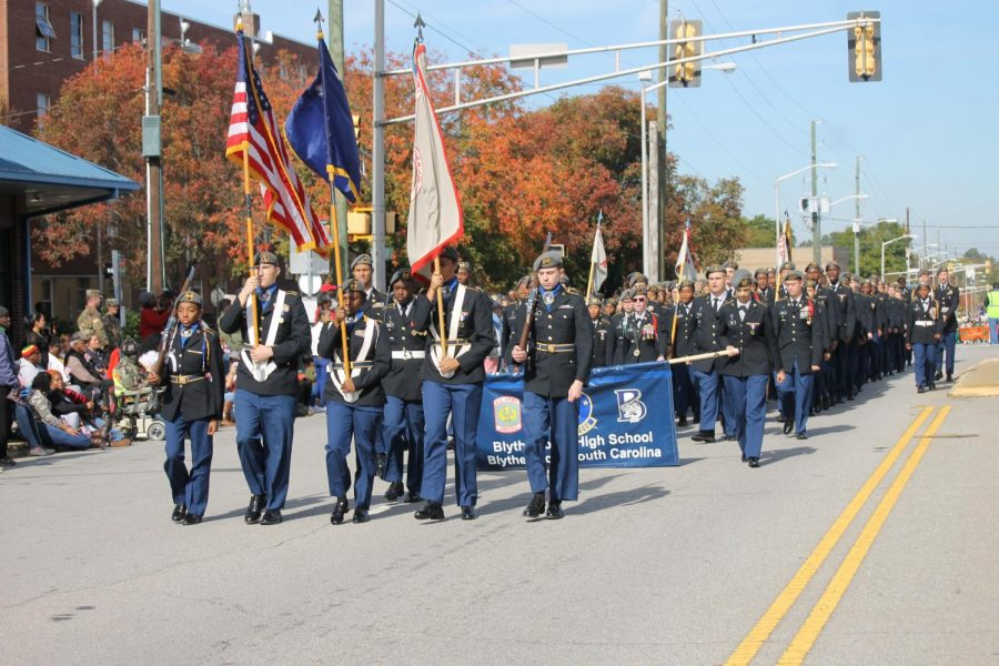 BHS JROTC marching