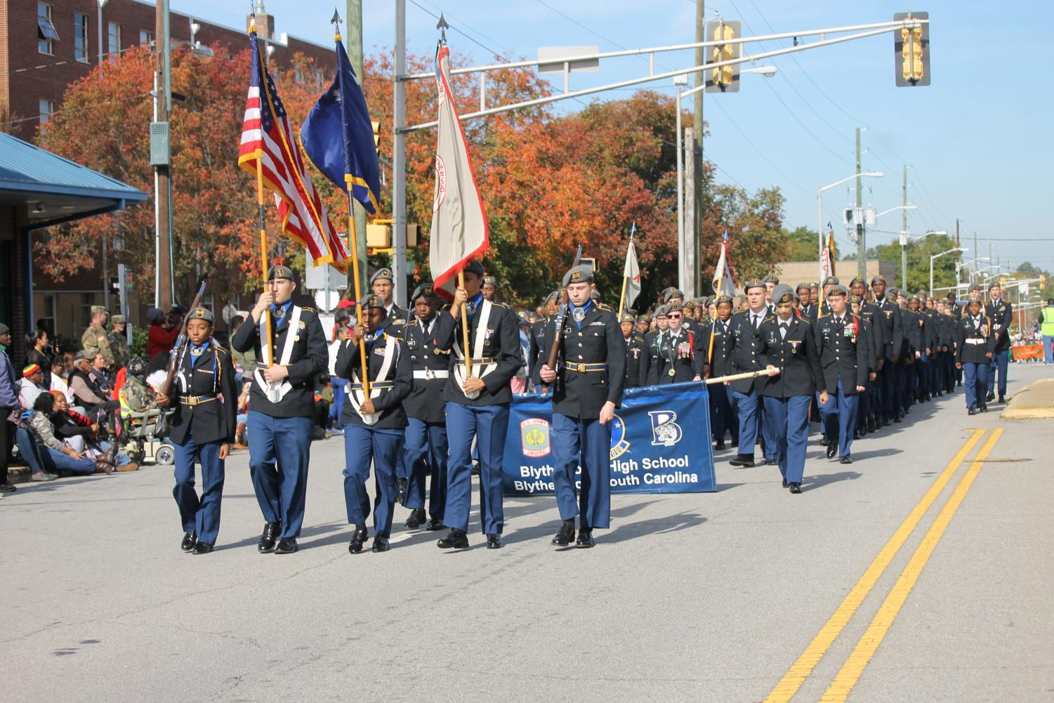 BHS JROTC participates in Veterans Day parade in Columbia, South Carolina.