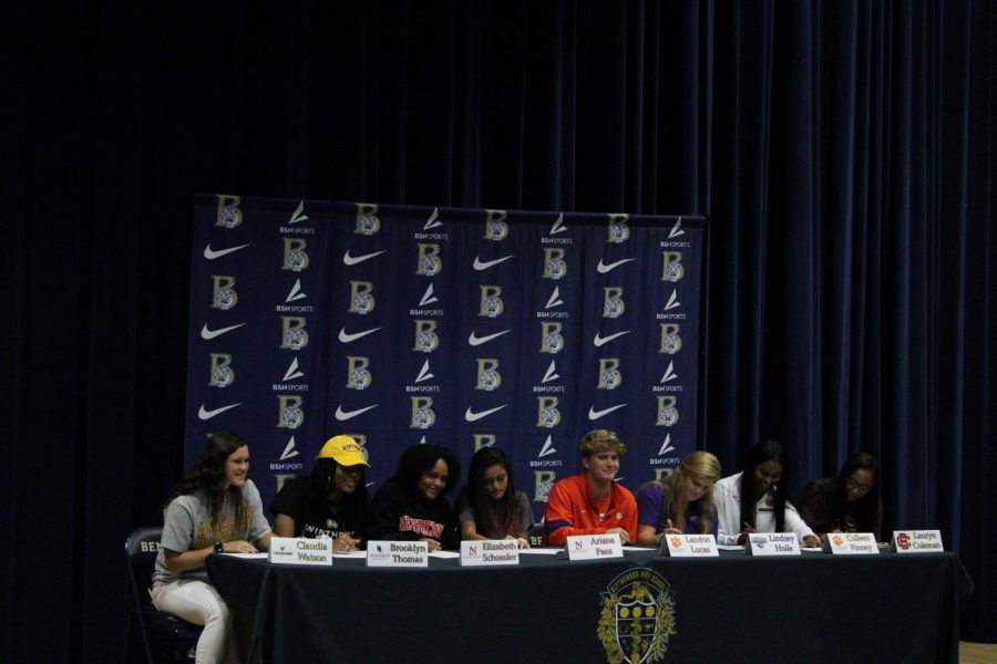 8 BHS seniors sign to play college athletics.