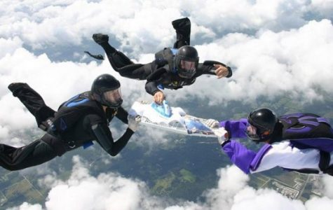 Skydiving and ironing