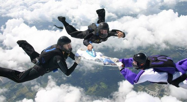 Skydiving+and+ironing