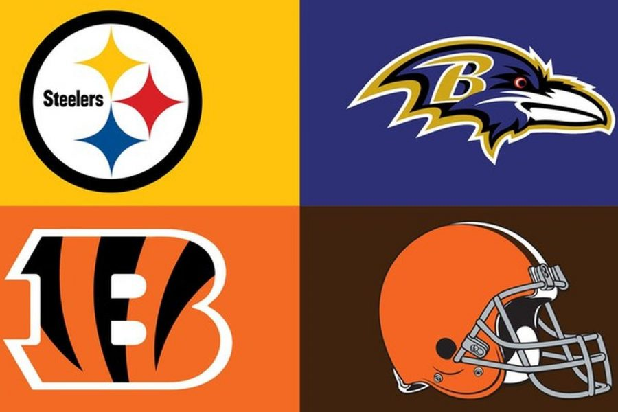 Top Left: Pittsburgh Steelers Top Right: Baltimore Ravens Bottom Left: Cincinnati Bengals Bottom Right: Cleveland Browns