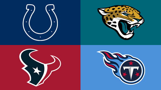 Top Left: Indianapolis Colts Top Right: Jacksonville Jaguars Bottom Left: Houston Texans Bottom Right: Tennessee Titans
