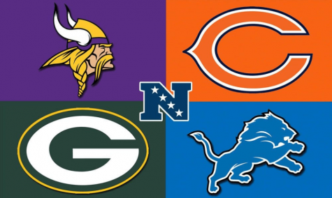 Top Left: Minnesota Vikings  Top Right: Chicago Bears  Bottom Left: Green Bay Packers  Bottom Right: Detroit Lions