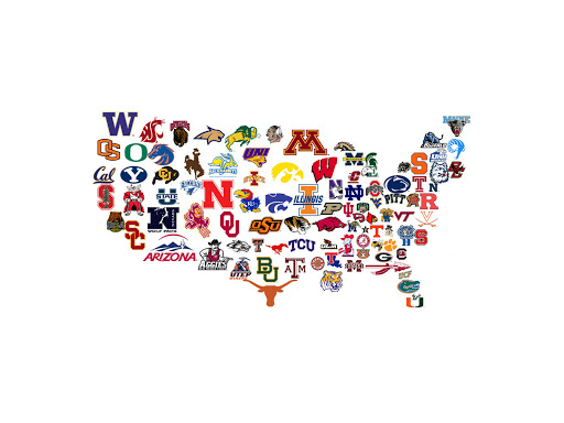 College logo map