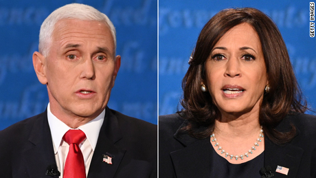picture of Mike Pence and Kamala Harris